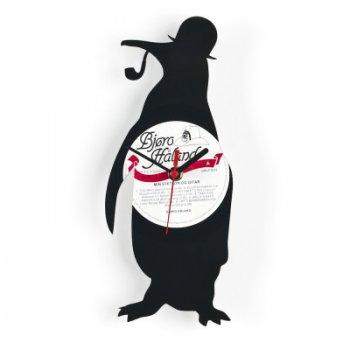Re_vinyl Muurklok Pinguïn 1381
