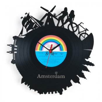 Re_vinyl Muurklok Amsterdam 1384