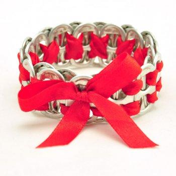 Birdie armband rood 7620