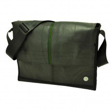 Obrero Plus messenger / laptoptas groen 7526