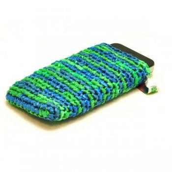 Chenda smartphonehoes mix groen blauw 7618